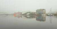 Tåkedag ved elva