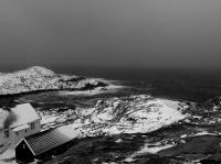 Antatt - Det snør, -også i sør - Lindesnes fyr