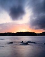 Solnedgang over Unnerøy