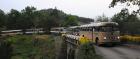 Veteranbusskolonne i Knuden