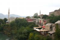 En gammel gate i Mostar