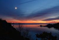 Ved solnedgang