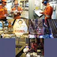 Arbeidere i aksjon på oljeriggen Visund