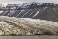 Antatt - Isbreene på Svalbard smelter.